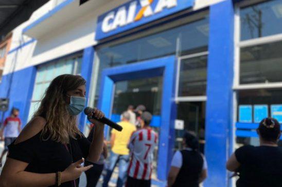 Em defesa dos serviços públicos, trabalhadores da Caixa participam do Dia Nacional de Luta