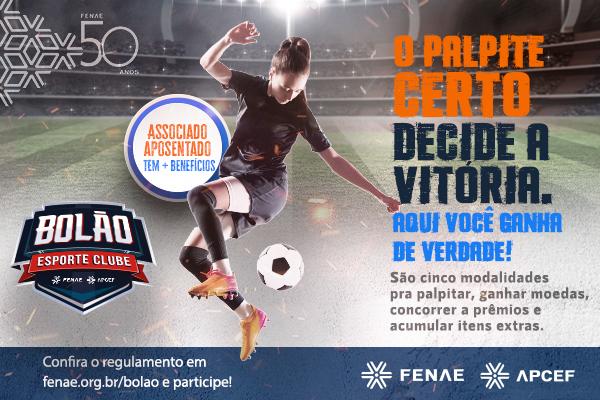 Dê o seu palpite e ganhe prêmios no Bolão Esporte Clube da Fenae e Apcefs