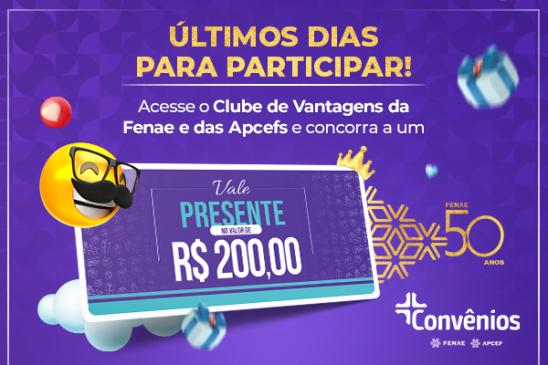 Últimos dias para participar do sorteio do mês dos pais na plataforma de Convênios