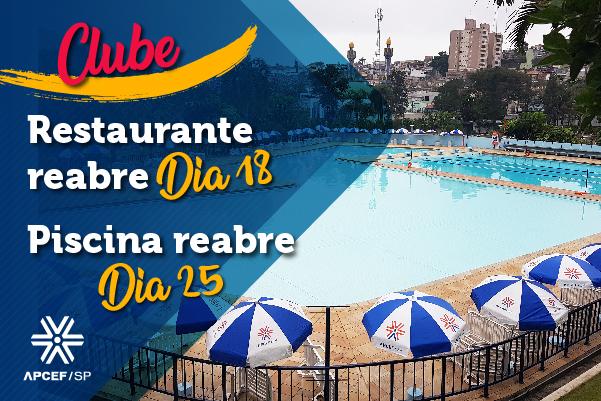 Restaurante do clube da capital reabre neste sábado (18) e piscina, dia 25