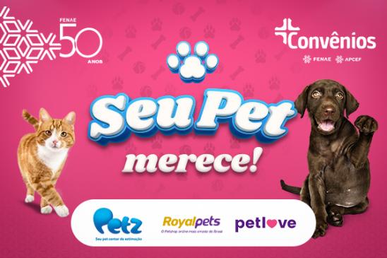 Plataforma de Convênios da Fenae e das Apcefs tem lojas com produtos para pet com descontos