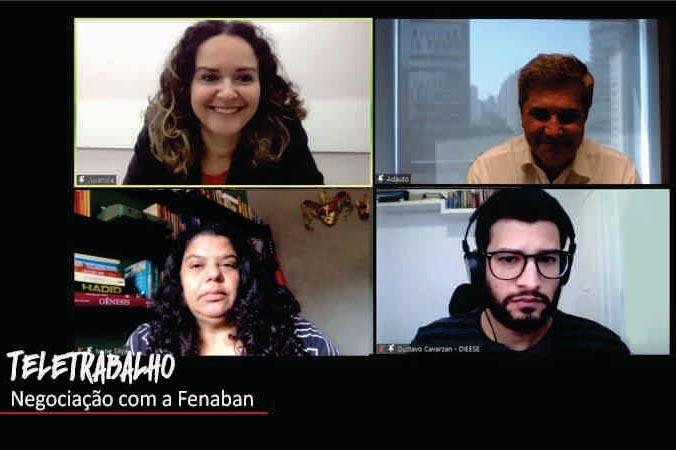 Comando Nacional retoma negociação com Fenaban sobre teletrabalho