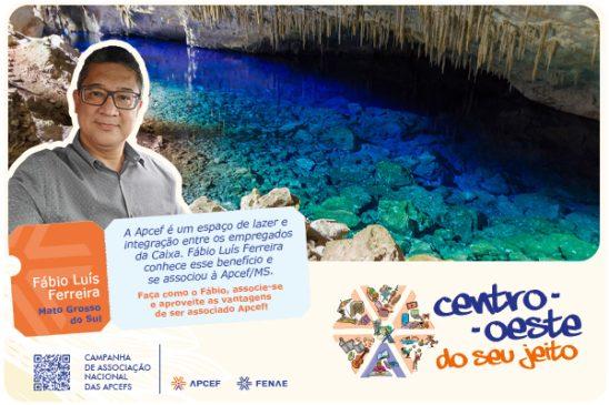"""""""Apcef é um espaço de lazer e integração entre os colegas Caixa"""", diz Fábio Luis Ferreira associado da Apcef/MS"""