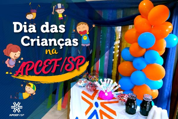 Comemore o Dia das Crianças na Apcef/SP. Confira as atividades programadas