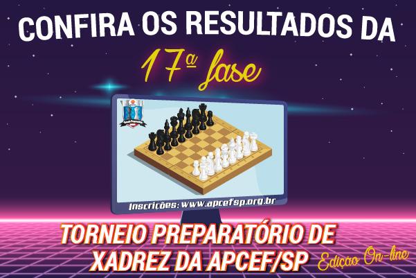 17ª fase do Torneio de Xadrez foi encerrada em 9 de outubro. Confira os resultados
