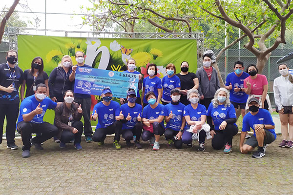 Graacc e ONG Moradia e Cidadania recebem valores arrecadados na Corrida e Caminhada Virtual